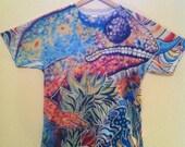 Men's Medium Shirt - Chameleon  - Surreal Visionary Art Sublimation Print