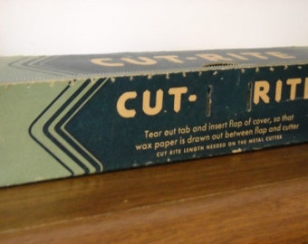 Circa 1940s box of Cut-Rite wax paper