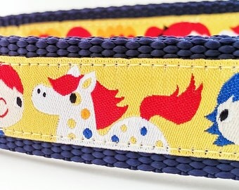 The Happy Horse - Dog Collar / Pet Accessories / Adjustable / Handmade / Gift Idea / Pet Lover
