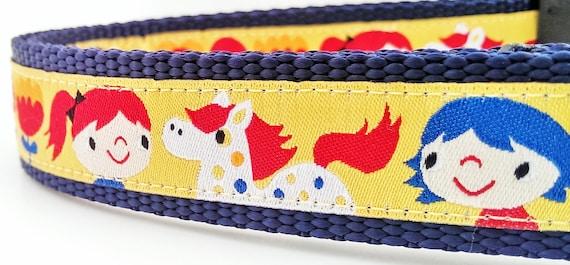The Happy Horse - Dog Collar / Pet Accessories / Adjustable / Handmade / Gift Idea / Pet Lover