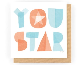 You Star - Greeting Card (1-20C)