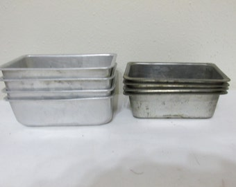 Mini Bread Pan Set of 8 Individual Size Tart Tins
