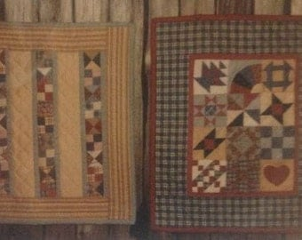 Quick-Pieced Miniatures IV - Sampler Quilt and Strip Quilt Vintage quilt pattern by The Quilted Cottage