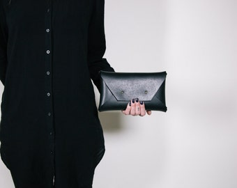 Black Large Clutch