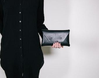 Black Large Clutch
