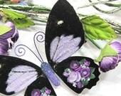 Butterfly Embellishments Violet Rose