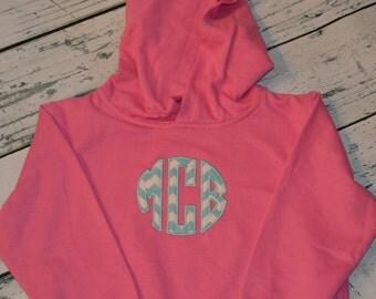 TODDLER Monogrammed Hooded Sweatshirt Personalized Monogrammed Pullover