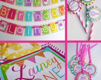 Cute as a Button Birthday Party Decorations Fully Assembled