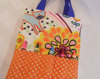 Happy Kids Activity Tote - Complete with Coloring Book and Crayons