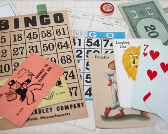Vintage Ephemera (Games) Craft Pack