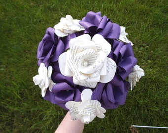 Large Colour Book Paper Bridal Wedding Bouquet bridal bouquet