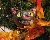 Black Cat Halloween Trick Or Treat Ornament