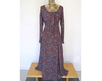 WILDFLOWER // floral tie-front 90s maxi dress M