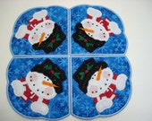 Machine Embroidery Design-In the Hoop-Doily/Candle Mat/Runner/Place mat-Applique Snowman includes 2 sizes!