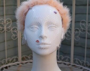 Feather headband with veil Russian ballerina black swan