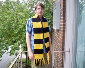 Scarf in Hufflepuff Colors First Year