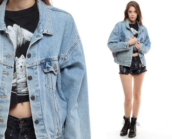 Levis Jean Jacket 80s Denim Jacket Faded Distressed by ShopExile