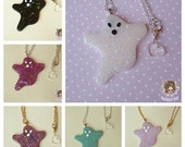 Ghastly Ghost Necklace - 6 COLOURS AVAILABLE spooky cute pastel goth halloween creepy