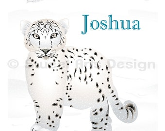 Snow Leopard  -  Wall Print  (or)  Greeting Cards