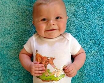 Vintage Baby Zodiac TAURUS Onesie