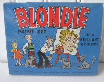 Vintage Blondie Dagwood Paint Box 1952 Children Toy