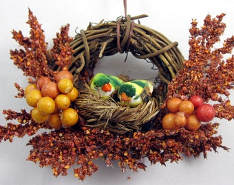 Birds in a Nest Christmas Ornament 401