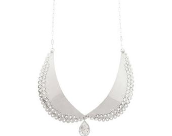Silver Handcut Lace Collar