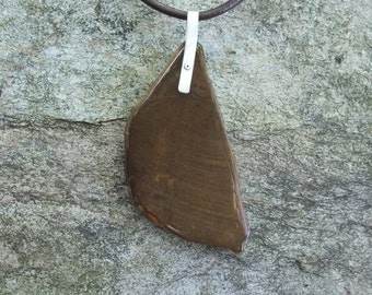 Petrified Wood pendant necklace - natural statment jewelry from ethically sourced gem stone