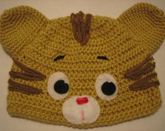 Daniel the Tiger - inspired Crochet Hat   - Photo shoot props - Preschoolers cap - Halloween