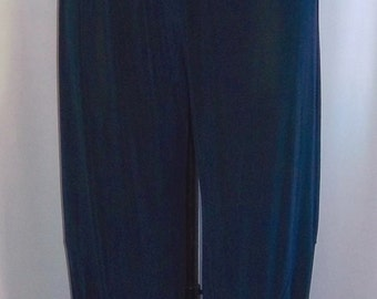 Coco and Juan Lagenlook Plus Size Navy Blue Slinky Knit Bubble Pant  Size 1 fits 1X,2X