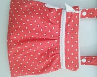 Pleated double Wet Bag, Kitchen Wet Bag, Gym Bag, Cosmetic Bag, Waterproof Bag, Cloth Diaper Bag