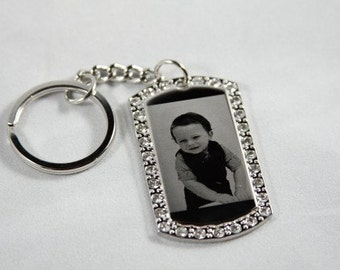 Personalized Cubic Dogtag Pendant - Photo Engraved