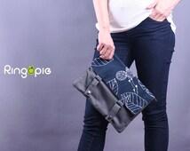 Ready To Ship-One Of A Kind-Graphic Printed Ipad Sleeve/ipad case/ipad cover/handmade ipad sleeve - 075