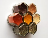 SUPER Kit:  Gift Idea for Mom. Includes 7 Magnetic Jars Filled with Organic ANTIOXIDANT Rich Spices to Help You Fight Disease. Unique Gift.
