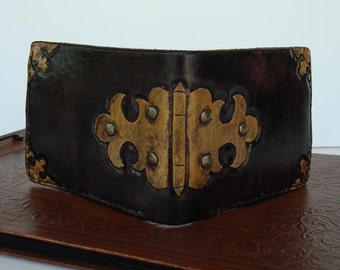 Tooled Leather Steam Trunk Wallet