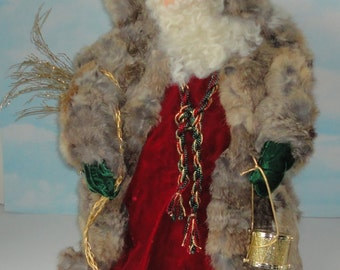 One-Of-A-Kind Hand Made Large Santa Claus. Signed Judy Eddy 1992. # 15