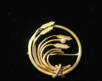 Vintage Gold Filled 1960's Retro Circle Pin