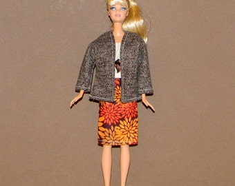 B3PC-77 ) Barbie 3 pc classy outfit