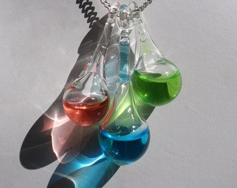 Potion Pendants! Blown Glass Necklace with 3 potions