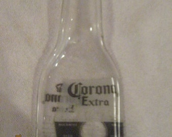 Slumped Corona Extra Bottle - Spoon Rest - Candle Holder - Candy Dish - Great Gift