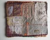 Art Quilt, Fiber Art, Wall Hanging, non-traditional quilt, collage art, fiber collage, Textile art