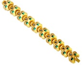Joseph Mazer Gorgeous Green and Blue Jeweled Bracelet