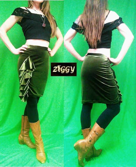 Custom Ruffled Pencil Skirt