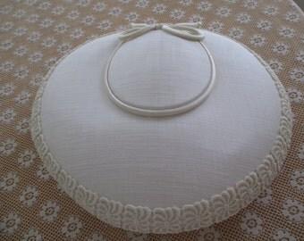vintage cream color hat
