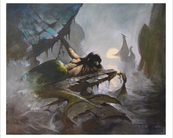 Mike Hoffman Ocean Seascape Art Painting Print THE MERMAID SHIP
