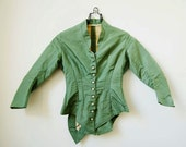 Victorian Green Gables Bodice• 1870's Peplum Jacket • Steampunk Victorian Jacket