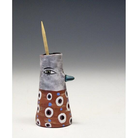 Sculpted ceramic bird toothpick holder dot - Bird toothpick holder ...