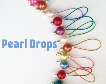 Knitting Stitch Markers Snag Free - Pearl Drops for tins