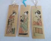 Vintage Wood Japan Postcards