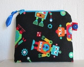 HALF PRICE SALE Robots Card/Coin Purse